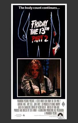 Friday the 13th, Part 2 - 11 x 17 Movie Poster - Australian Style A