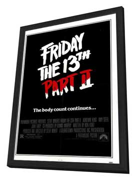 Friday the 13th, Part 2 - 27 x 40 Movie Poster - Style A - in Deluxe Wood Frame