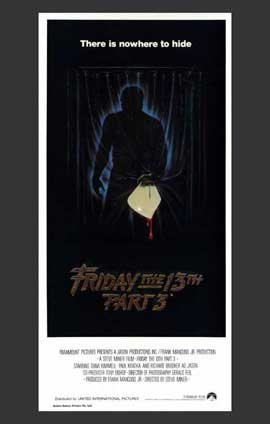 Friday the 13th, Part 3 - 11 x 17 Movie Poster - Australian Style A