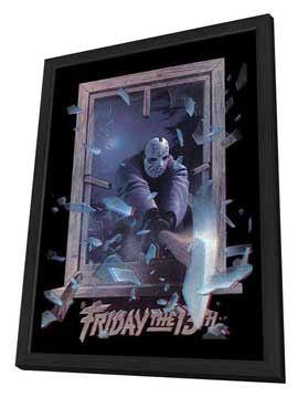 Friday the 13th, Part 3 - 11 x 17 Movie Poster - Style C - in Deluxe Wood Frame