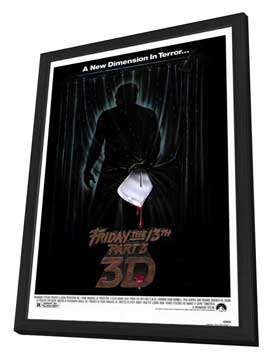 Friday the 13th, Part 3 - 27 x 40 Movie Poster - Style A - in Deluxe Wood Frame