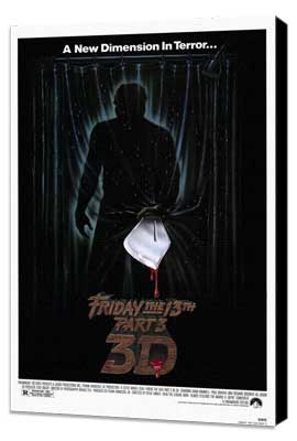 Friday the 13th, Part 3 - 27 x 40 Movie Poster - Style A - Museum Wrapped Canvas