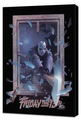 Friday the 13th, Part 3 - 27 x 40 Movie Poster - Style B - Museum Wrapped Canvas