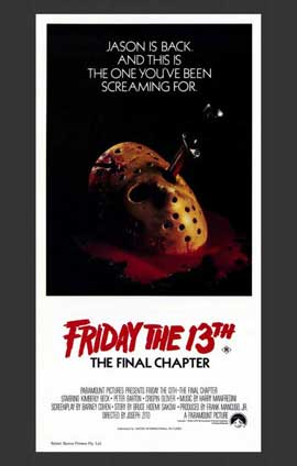 Friday the 13th, Part 4: The Final Chapter - 11 x 17 Movie Poster - Australian Style A