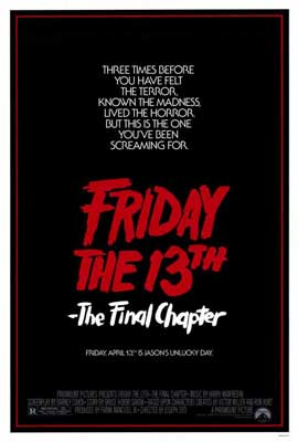 Friday the 13th, Part 4: The Final Chapter - 27 x 40 Movie Poster - Style A