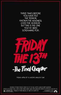 Friday the 13th, Part 4: The Final Chapter - 43 x 62 Movie Poster - Bus Shelter Style A