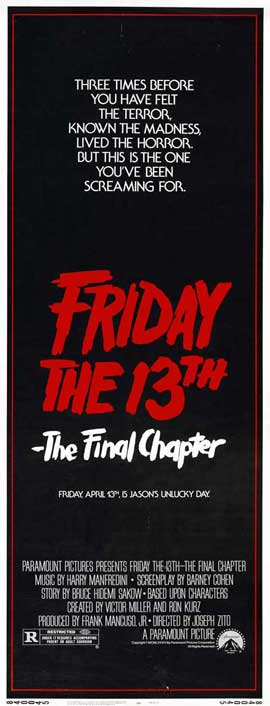 Friday the 13th, Part 4: The Final Chapter - 14 x 36 Movie Poster - Insert Style A