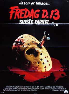 Friday the 13th, Part 4: The Final Chapter - 11 x 17 Movie Poster - Danish Style A