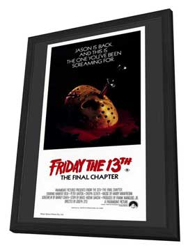 Friday the 13th, Part 4: The Final Chapter - 11 x 17 Movie Poster - Australian Style A - in Deluxe Wood Frame