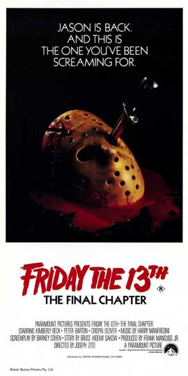 Friday the 13th, Part 4: The Final Chapter - 20 x 40 Movie Poster - Style A