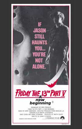 Friday the 13th, Part 5: A New Beginning - 11 x 17 Movie Poster - Australian Style A