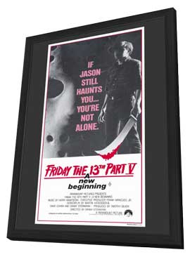 Friday the 13th, Part 5: A New Beginning - 11 x 17 Movie Poster - Australian Style A - in Deluxe Wood Frame
