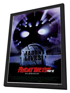 Friday the 13th, Part 6: Jason Lives - 11 x 17 Movie Poster - Style A - in Deluxe Wood Frame