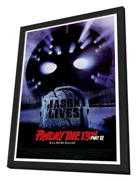 Friday the 13th, Part 6: Jason Lives - 27 x 40 Movie Poster - Style A - in Deluxe Wood Frame
