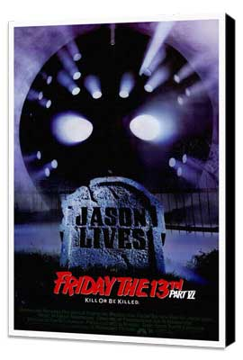 Friday the 13th, Part 6: Jason Lives - 27 x 40 Movie Poster - Style A - Museum Wrapped Canvas