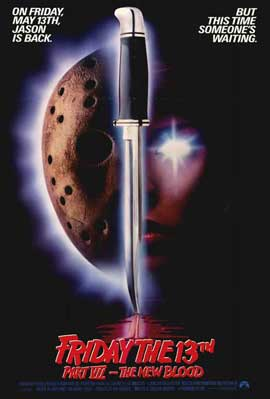 Friday the 13th, Part 7: The New Blood - 11 x 17 Movie Poster - Style A