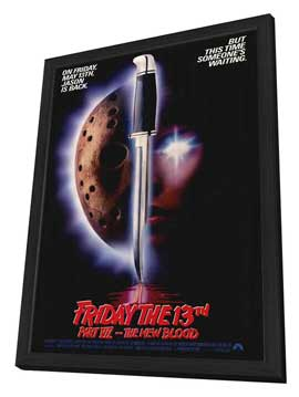 Friday the 13th, Part 7: The New Blood - 27 x 40 Movie Poster - Style A - in Deluxe Wood Frame