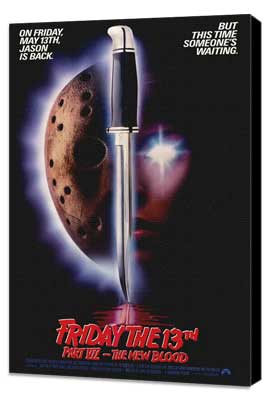 Friday the 13th, Part 7: The New Blood - 27 x 40 Movie Poster - Style A - Museum Wrapped Canvas