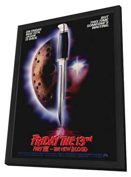 Friday the 13th, Part 7: The New Blood - 11 x 17 Movie Poster - Style A - in Deluxe Wood Frame