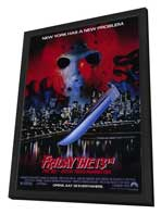 Friday the 13th, Part 8: Jason Takes Manhattan - 27 x 40 Movie Poster - Style A - in Deluxe Wood Frame