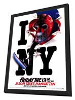 Friday the 13th, Part 8: Jason Takes Manhattan - 27 x 40 Movie Poster - Style B - in Deluxe Wood Frame