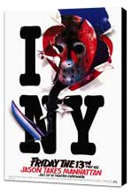 Friday the 13th, Part 8: Jason Takes Manhattan - 27 x 40 Movie Poster - Style B - Museum Wrapped Canvas