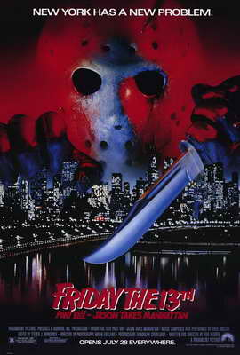 Friday the 13th, Part 8: Jason Takes Manhattan - 27 x 40 Movie Poster - Style A