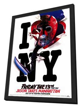 Friday the 13th, Part 8: Jason Takes Manhattan - 11 x 17 Movie Poster - Style B - in Deluxe Wood Frame
