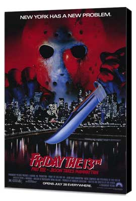 Friday the 13th, Part 8: Jason Takes Manhattan - 27 x 40 Movie Poster - Style A - Museum Wrapped Canvas