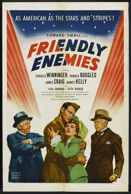 Friendly Enemies - 11 x 17 Movie Poster - Style B