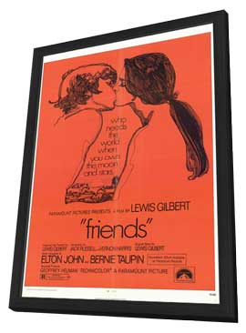 Friends - 11 x 17 Movie Poster - Style A - in Deluxe Wood Frame