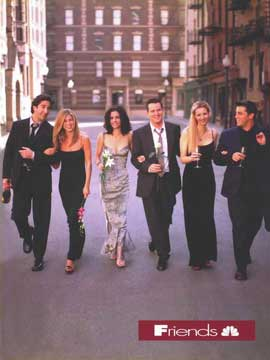 Friends (TV) - 11 x 17 TV Poster - Style G