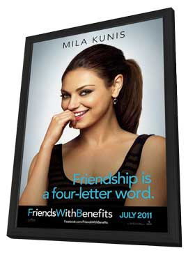 Friends with Benefits - 11 x 17 Movie Poster - Style D - in Deluxe Wood Frame