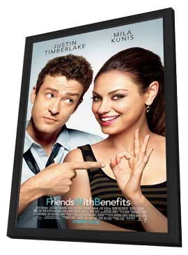 Friends with Benefits - 27 x 40 Movie Poster - Style B - in Deluxe Wood Frame