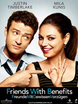 Friends with Benefits - 27 x 40 Movie Poster - Swiss Style A