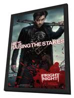 Fright Night - 27 x 40 Movie Poster - UK Style A - in Deluxe Wood Frame