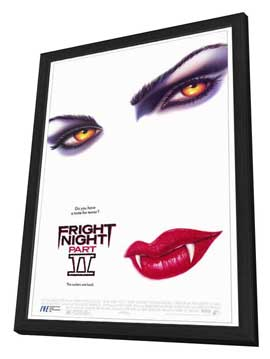 Fright Night Part II - 27 x 40 Movie Poster - Style A - in Deluxe Wood Frame