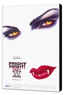 Fright Night Part II - 11 x 17 Movie Poster - Style A - Museum Wrapped Canvas
