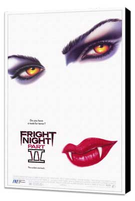Fright Night Part II - 27 x 40 Movie Poster - Style A - Museum Wrapped Canvas