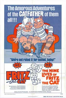Fritz the Cat / The Nine Lives of Fritz the Cat - 27 x 40 Movie Poster - Style A