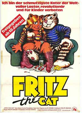 Fritz the Cat - 11 x 17 Movie Poster - German Style A