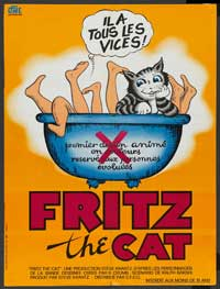 Fritz the Cat - 43 x 62 Movie Poster - Bus Shelter Style B