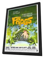 Frogs - 11 x 17 Movie Poster - Style A - in Deluxe Wood Frame