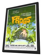 Frogs - 27 x 40 Movie Poster - Style A - in Deluxe Wood Frame