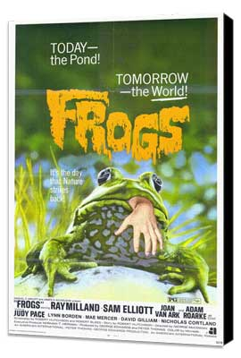 Frogs - 27 x 40 Movie Poster - Style A - Museum Wrapped Canvas