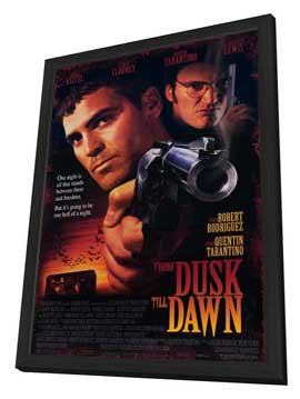 From Dusk Till Dawn - 11 x 17 Movie Poster - Style B - in Deluxe Wood Frame