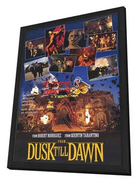 From Dusk Till Dawn - 11 x 17 Movie Poster - Style C - in Deluxe Wood Frame