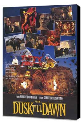 From Dusk Till Dawn - 11 x 17 Movie Poster - Style C - Museum Wrapped Canvas