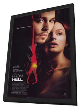 From Hell - 27 x 40 Movie Poster - Style A - in Deluxe Wood Frame