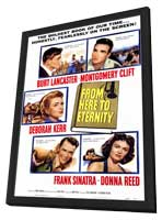 From Here to Eternity - 11 x 17 Movie Poster - Style A - in Deluxe Wood Frame
